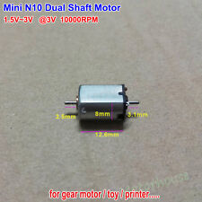 Mini N10 Dual Shaft Motor DC1.5V-3V 10000RPM Micro 10mm DC Motor Hobby Toy DIY