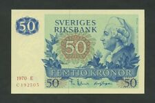 SWEDEN  50 kronor  1970  P53a  Uncirculated  Banknotes