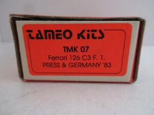 TAMEO 1/43 FERRARI 126 C3 F1 PRESS & GERMANY 1983 METAL KIT TMK 07