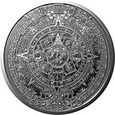 Aztèque Warrior & Calendrier Mexico 1 oz Argent 999 Fin Pièce de Monnaie