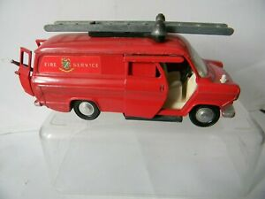 EARLY DINKY FORD TRANSIT FIRE SERVICE VAN vg