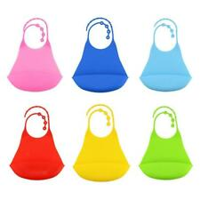 Waterproof Silicone Bibs for Adults & Elderly, Reusable Soft Bib with Food