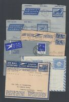 SIX used South African Africa Air Letter with different designs