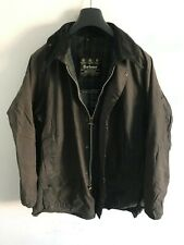Mens Barbour Beaufort wax jacket Dark Grey coat 42 in size Large / Extra Large