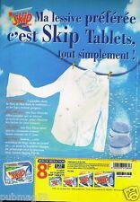 Publicité advertising 2000 La Lessive Skip