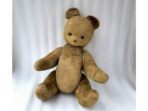 Big Vintage 50s Jointed Plush Bear Antique Brown Teddy Soviet Russian USSR