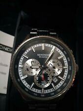 SEKONDA QUARTZ CHRONOGRAPH BOXED WITH PAPERWORK AND NEW BATTERY FITTED