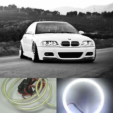 For E38 E39 E46 E36 4x HID Style LED 90 cob Angel Eyes Halo Rings Kit lights