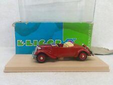 Eligor #1001 Citroen Traction AV Cabriolet 1938 1/43 Decouvert NIB