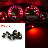 20x Red T3 Neo Wedge LED Dash A/C Climate Control HVAC Lights Lamp 12V