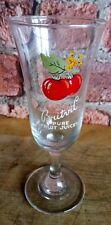 Vintage Britvic Pure Fruit Juices ' Cherry ' Stemmed Glass
