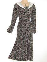 LAURA ASHLEY VINTAGE ENGLISH ROSE GARDEN EDWARDIAN STYLE LACE COLLAR DRESS,14