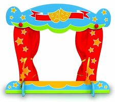 Telltale Wooden Table-Top Finger Puppet Theatre with Stage Curtains