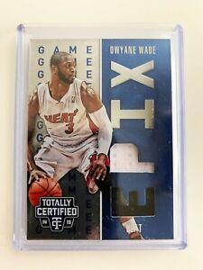 Dwyane Wade 2014-15 Totally Certified Epix Memorabilia Blue Game Dual /149