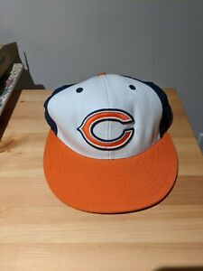Mitchell & Ness Chicago Bears hat. 7 1/4. NFL White, Orange and Dark Blue