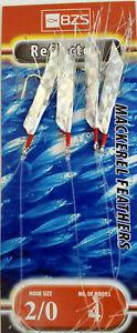 5 packets of sea flec reflector mackerel mackeral tinsel feathers 4 hooks