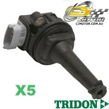 TRIDON IGNITION COIL x5 FOR Volvo C70 T5 12/06-06/10, 5, 2.5L B5254T
