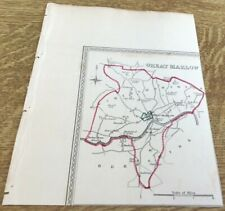 Antique Map Great Marlow Showing Boundary Of Borough By S Lewis C 1835 Walker