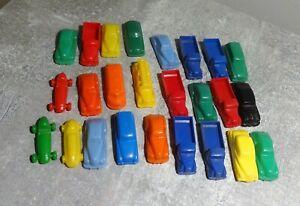 25x Automodelle Plastik bunt 3,5cm bis 4cm gebraucht gut schöne Sammlerstücke