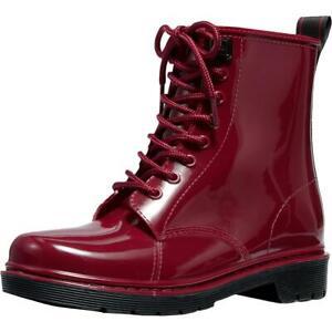 MICHAEL Michael Kors Womens Tavie Rubber Lace-Up Rain Boots Shoes BHFO 2307
