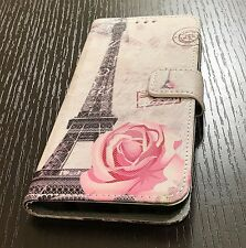 For Samsung Galaxy S8 - ID Card Wallet Diary Pouch Phone Case Paris Eiffel Tower