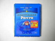 Studio Ghibli Ponyo Blu DVD Cate Blanchett Matt Damon Tina Fey Betty White Jonas