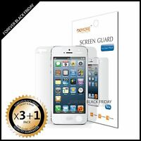 iPhone 5 Screen Protector Anti-Glare Matte 3x Front + 1x Back Cover Guard Shield
