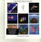 (DE180) Just Music Album Sampler, 9 tracks various artists - DJ CD