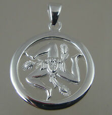 Sicilian Trinacria pendant Jewelry Solid sterling 20MM