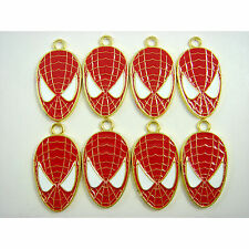 8 pcs Spiderman Spider-man Jewelry Making Metal Figures Charms Pendant + GIFT