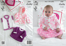 Cuddles Chunky Knitting Pattern King Cole Knitted Jacket Angel Top & Gilet 3787