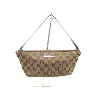 Gucci Hand Bag GG Hand Bag Browns Canvas 1722439