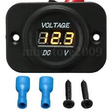 12V-24V Car Van Boat Marine Motorcycle LED Voltmeter Voltage Meter Battery Gauge