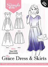 SIMPLE SEW SEWING PATTERN GRACE DRESS & SKIRTS SIZE 8 - 20 032 SALE