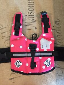 Paws Aboard XXS Pink W/White Polka Dots-Cute And Safe! Gently Preowned