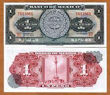 Mexico, 1 Peso, 22-7-1970, P-59 (59L),  UNC > Aztec calendar