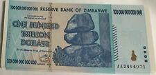 100 TRILLION ZIMBABWE BANK NOTES  2008 UNCIRCULATED (1 NOTE)