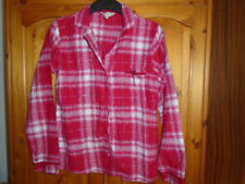 Red, white and silver check long sleeve pyjama top, DEBENHAMS (PRESENCE) 10, NEW