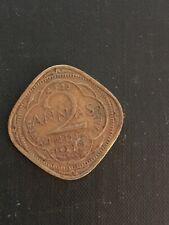 1942 India Coin - 2 Annas
