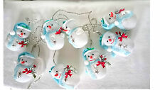 LED Lichterkette Schneemann Girlande Weihnachtsbeleuchtung innen blau