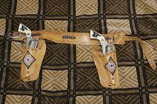 2pcs Collectible! Vintage 'HUBLEY TEXAN JR' Toy Pistons Gun.Cowboy
