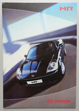 V13789 TOYOTA MR ROADSTER - CATALOGUE - NON DATE - A4 - B FR