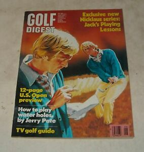 June 1977 GOLF DIGEST MAGAZINE JACK NICKLAUS US OPEN PREVIEW TV GUIDE JERRY PATE