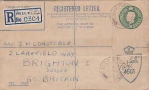 GB POSTAL HISTORY 1946 REGISTERED LETTER FPO 794 ITALY to BRIGHTON