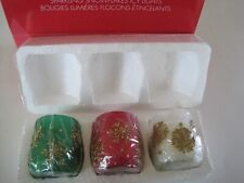 Avon Sparkling Snowflakes Fly Lights Candle Votive