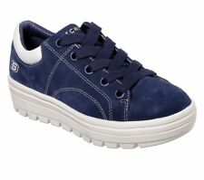 Skechers Street Cleat - Back Again Trainers Womens Suede Platform Sneakers 73999