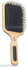 Kent Mega-Phine Large Taming  Paddle BRUSH Nylon Ball Tip Wooden Hairbrush PF17