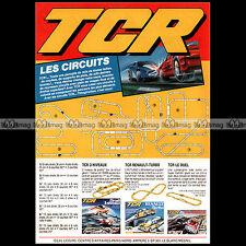 TCR CIRCUITS '3 NIVEAUX RENAULT DUEL' VINTAGE TOY 1986 : Publicité Advert #A1566
