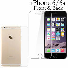 Anti-scratch 4H PET film screen protector Apple iphone 6 6s front + back