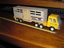 """Tonka 10"""" Mack ? Cabover Semi Tractor Trailer Horse Cattle Delivery Transporter"""